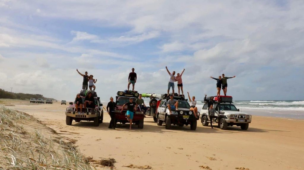 4x4 on Fraser Island