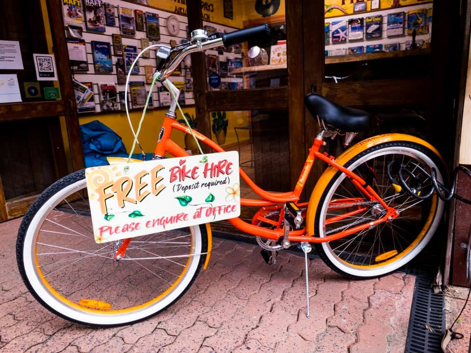 tropic days hostel bicycle hire