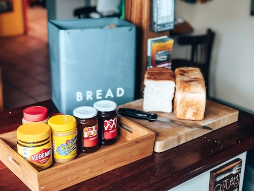 free breads and spreads breakfast